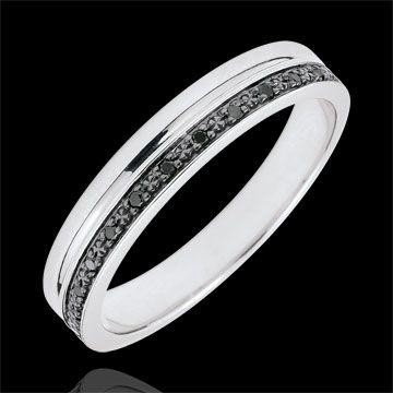 alliance femme or blanc et diamant