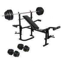 banc musculation avec barre poids