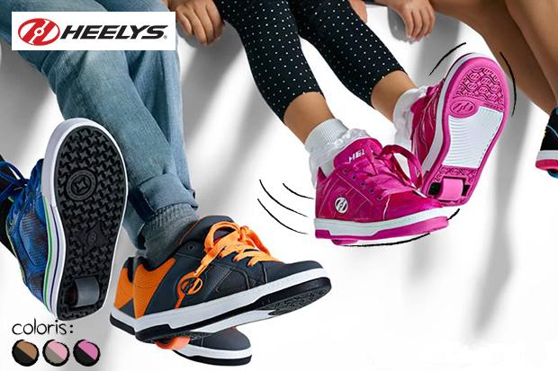 baskets à roulettes heelys