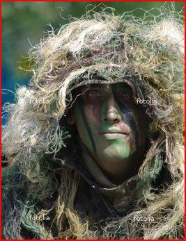 camouflage militaire visage