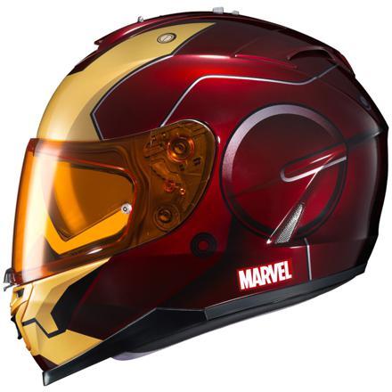 casque de moto marvel