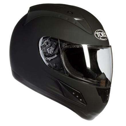 casque de moto noir mat