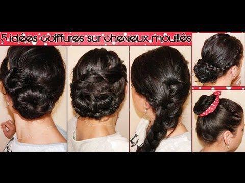 coiffure cheveux mouillés