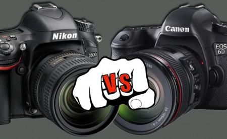 comparatif canon nikon