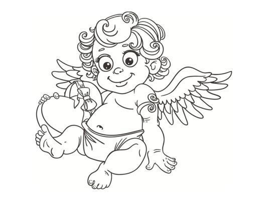 dessin bébé ange