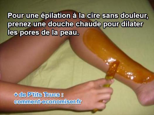 epilation cire chaude sans douleur