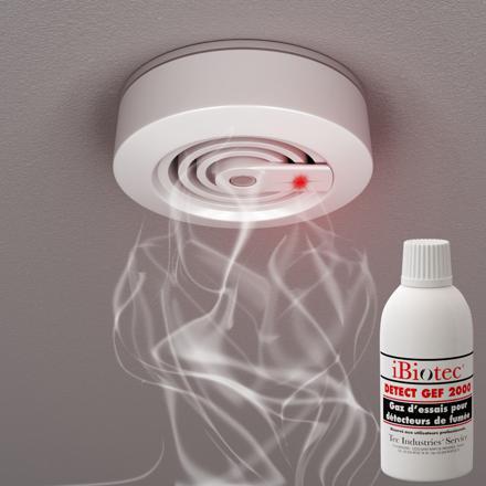 gaz d'essai pour détecteur de fumée