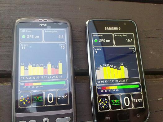gps pour smartphone samsung
