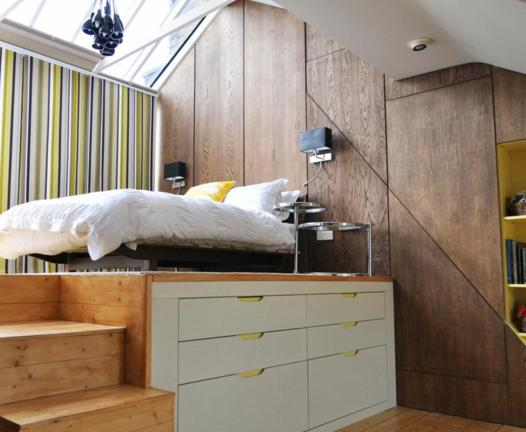 lit plateforme avec rangement