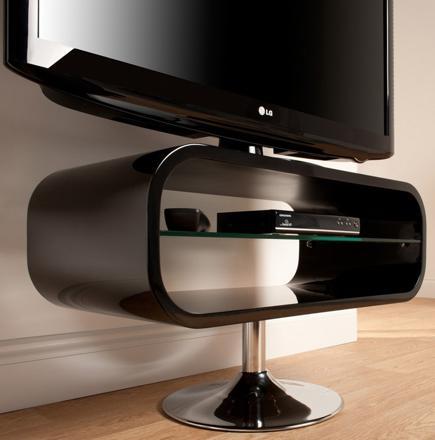 meuble tv sur pied pivotant