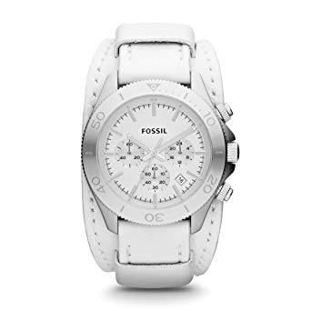 montre femme fossil blanche
