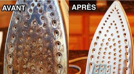 nettoyage fer à vapeur