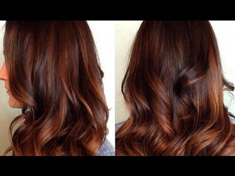 ombré hair marron caramel
