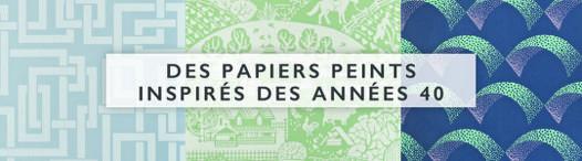 papier peint année 40