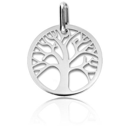 pendentif arbre de vie or blanc
