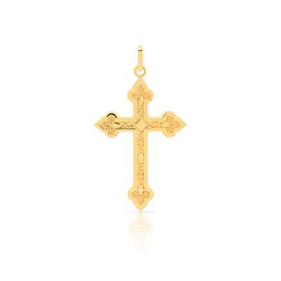 pendentif croix or homme