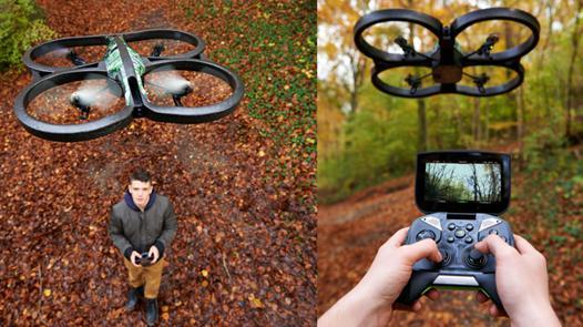 pilotage drone parrot