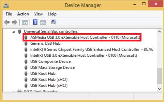 pilote usb 3.0 windows 10