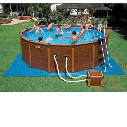 piscine intex bois