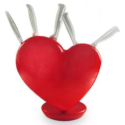 porte couteau coeur
