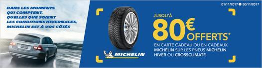 promotion pneu michelin