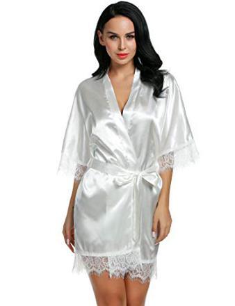 robe de chambre femme satin