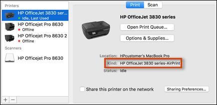 scanner sur mac avec imprimante hp