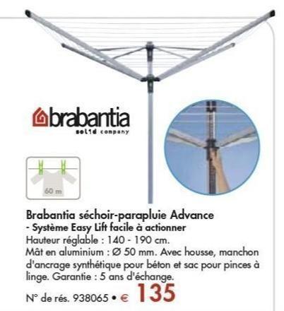 seche linge parapluie brabantia