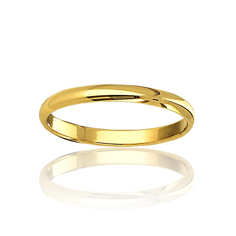alliance homme plaqué or