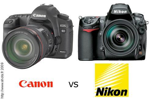 appareil photo canon ou nikon