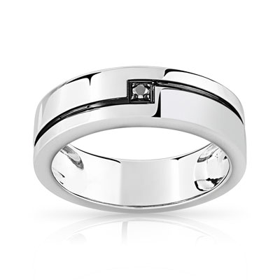 bague homme or blanc