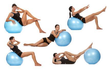 ballon pilates exercices