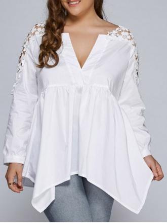 blouse dentelle grande taille