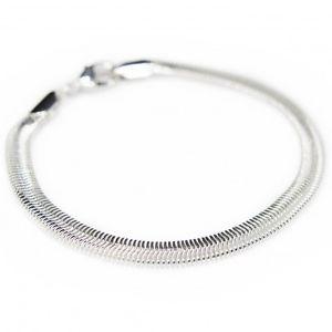 bracelet snake argent