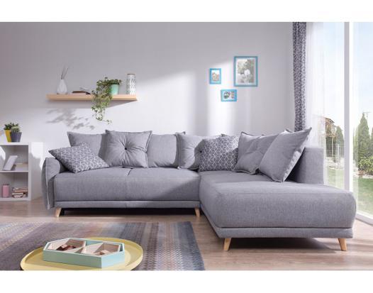 canapé angle gris clair