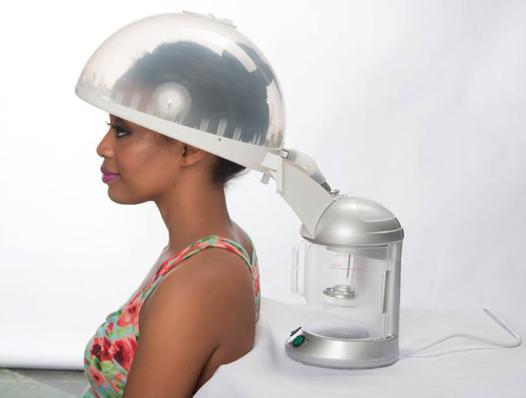 casque a vapeur soin des cheveux