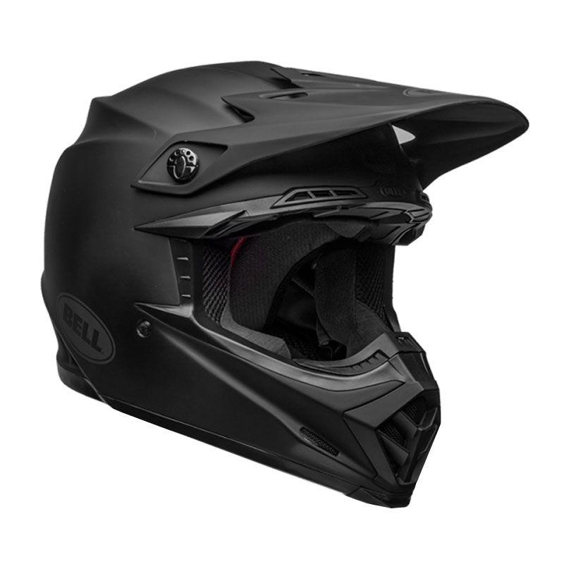casque moto cross noir mat