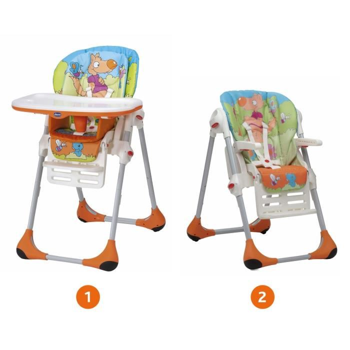 chaise haute polly chicco 2 en 1
