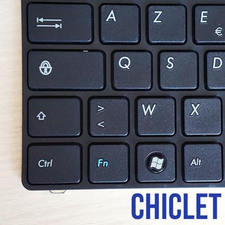 clavier chiclet