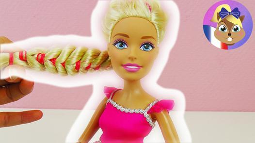 coiffure pour barbie