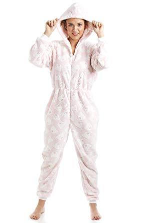 combinaison pyjama rose