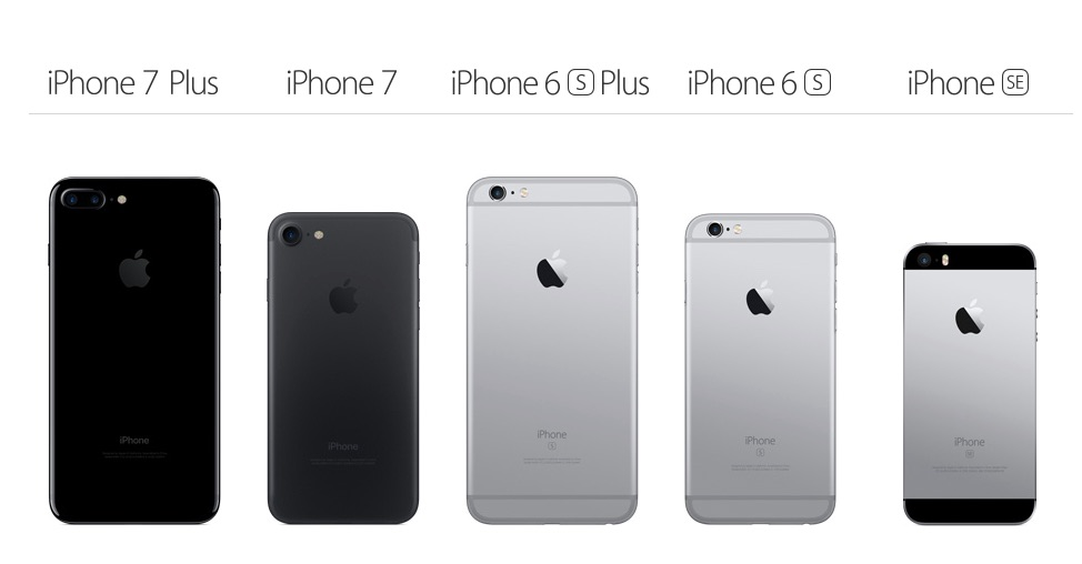 comparaison iphones