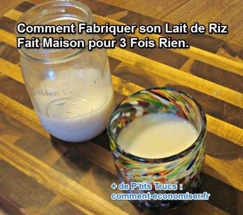 fabriquer du lait de riz