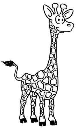 girafe en dessin
