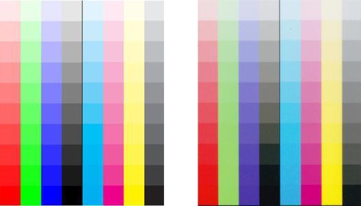 imprimante laser couleur test