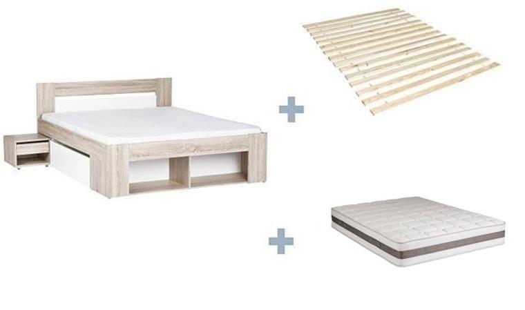 lit avec sommier et matelas inclus