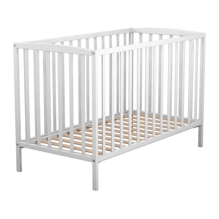 lit de bebe blanc