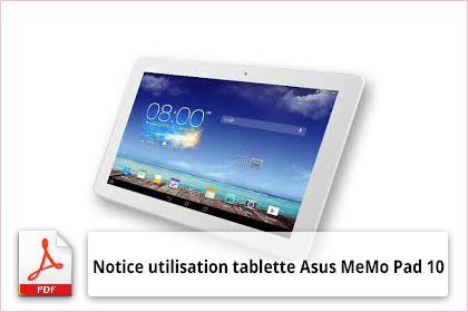 manuel utilisation tablette asus