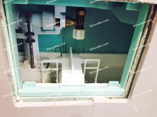 mecanisme chasse d'eau toilette suspendu