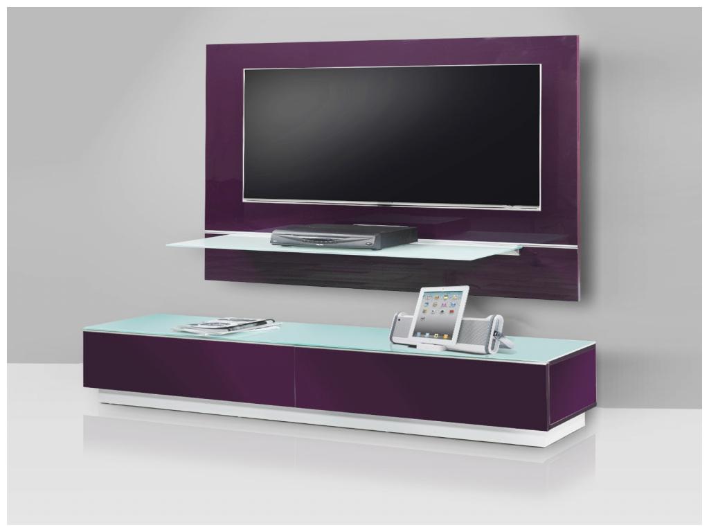 meuble support tv mural